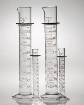 Corning® Pyrex® Class A Cylinder with Double Metric Scale