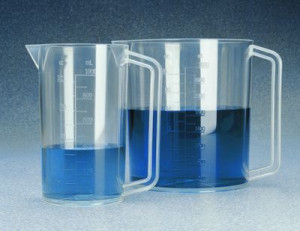 Nalgene™ Transparent Graduated Beaker with Handle