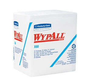 Wypall® X60 Teri Reinforced Quarterfold Wipes