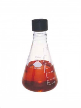 Kimax® Erlenmeyer Flasks with Screw Cap and Capacity Scale, a Krackeler Value Brand
