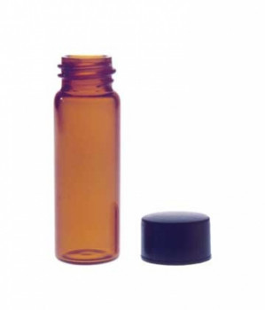 Kimble® Amber Screw Thread Sample Vials with Unattached Caps