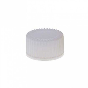 Kimble® White Urea Screw Thread Caps with PTFE-Faced Foam-Backed Rubber Liners