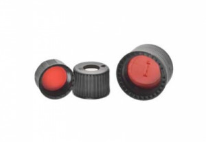Kimble® Polypropylene Screw Thread Caps with Red PTFE-Faced Silicone Septa
