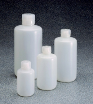 Certified Low Particulate Narrow-Mouth HDPE Bottles with Closure