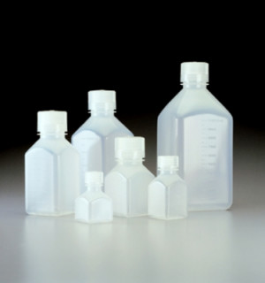 Nalgene™ Square Narrow-Mouth PPCO Bottles