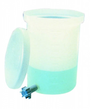 Nalgene™ Lightweight Cylindrical LLDPE Tank with Cover and Spigot