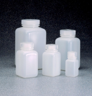Nalgene™ Square Wide Mouth HDPE Bottles