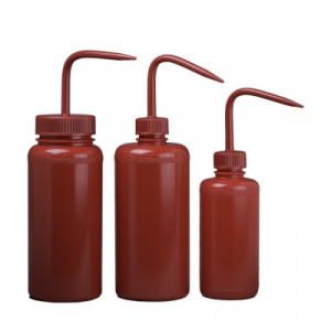 Red LDPE Wash Bottles