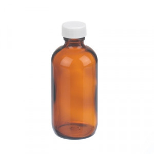 Wheaton® Amber Boston Round Bottles