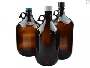 Qorpak® Amber Glass Jugs