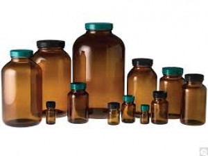 Amber Wide Mouth Packer Bottles