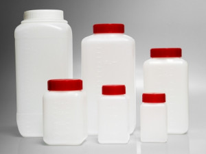 Corning® Gosselin™ HDPE Square Storage Bottles with Wide Neck