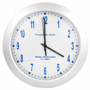 Traceable® Analog Radio Atomic Wall Clock