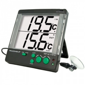Traceable® Big-Digit 4-Alert Alarm Thermometers