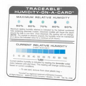 Traceable® Humidity-On-A-Card