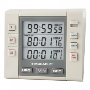 Traceable® Three-Channel Alarm Timer