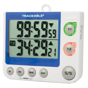 Traceable® Flashing LED Alert Big-Digit Dual Channel Timer
