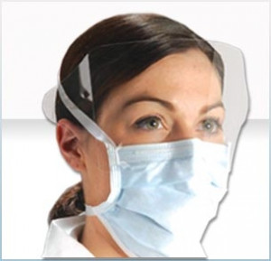 AlphaProTech Critical Cover® ShieldMate® Mask with Eye Shield
