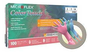 Microflex® ColorTouch® Latex Gloves
