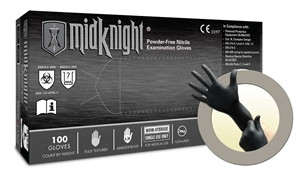 Microflex® MidKnight® Nitrile Gloves