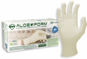 AloeForm® Latex Powder-Free Exam Gloves