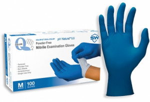 Color-Q® pH Natural® Nitrile Powder-Free Exam Gloves