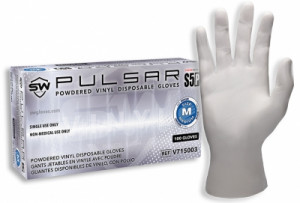 Pulsar® S5P Vinyl Powdered Gloves